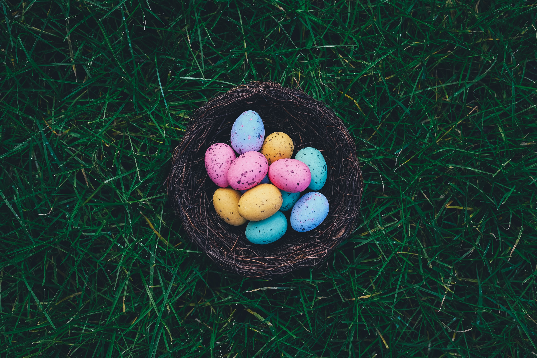 Cómo funciona el Fórex. Cesta de huevos de colores.